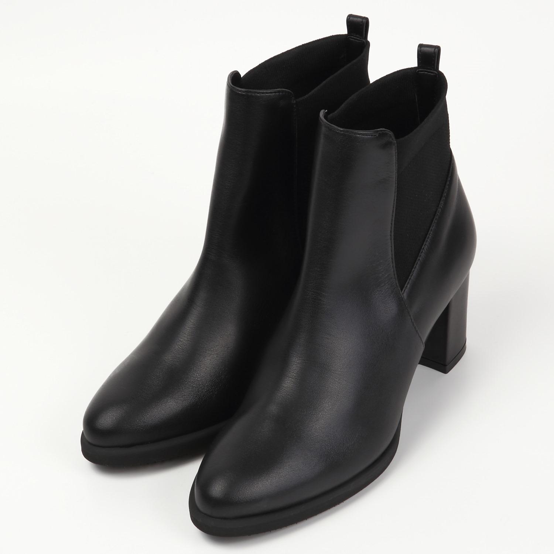 BARCLAYモードショートブーツ ブラック
