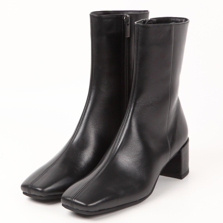 BARCLAYセンターシーム ショートブーツ ブラック